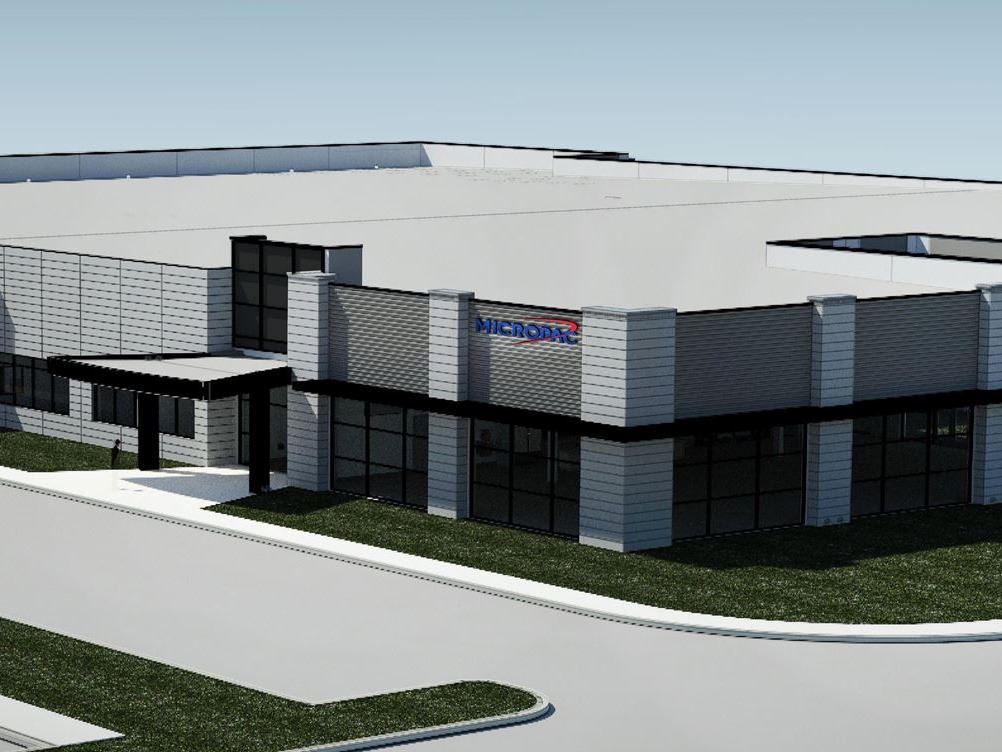 Architectural rendering of new Micropac facility